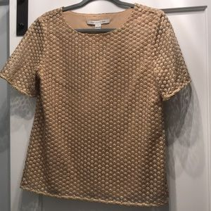DVF gold lace top